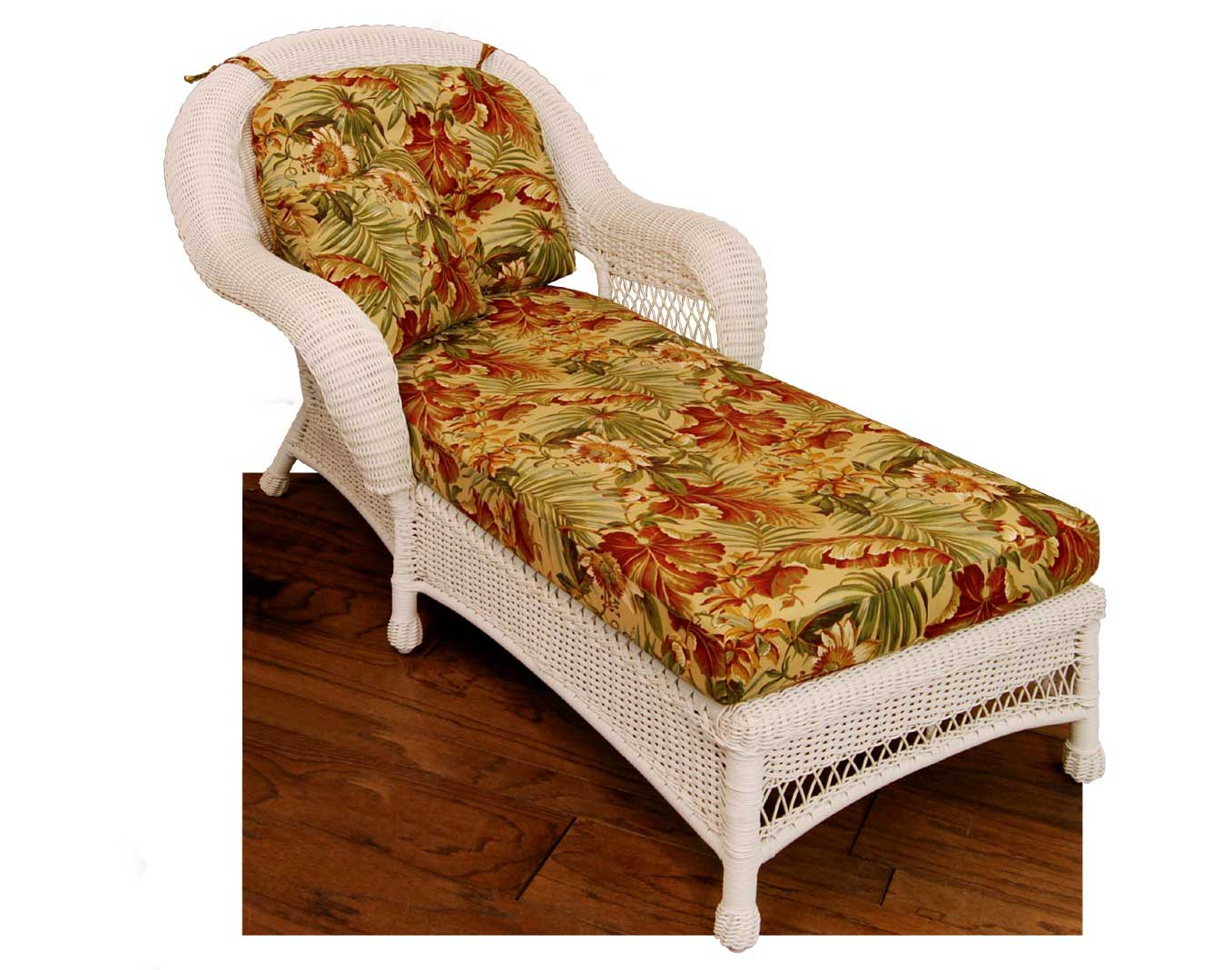 wicker domain chaise lounge w cushions. Black Bedroom Furniture Sets. Home Design Ideas
