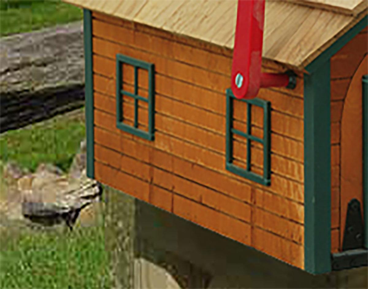 Wonderful Log House Mailbox UU63