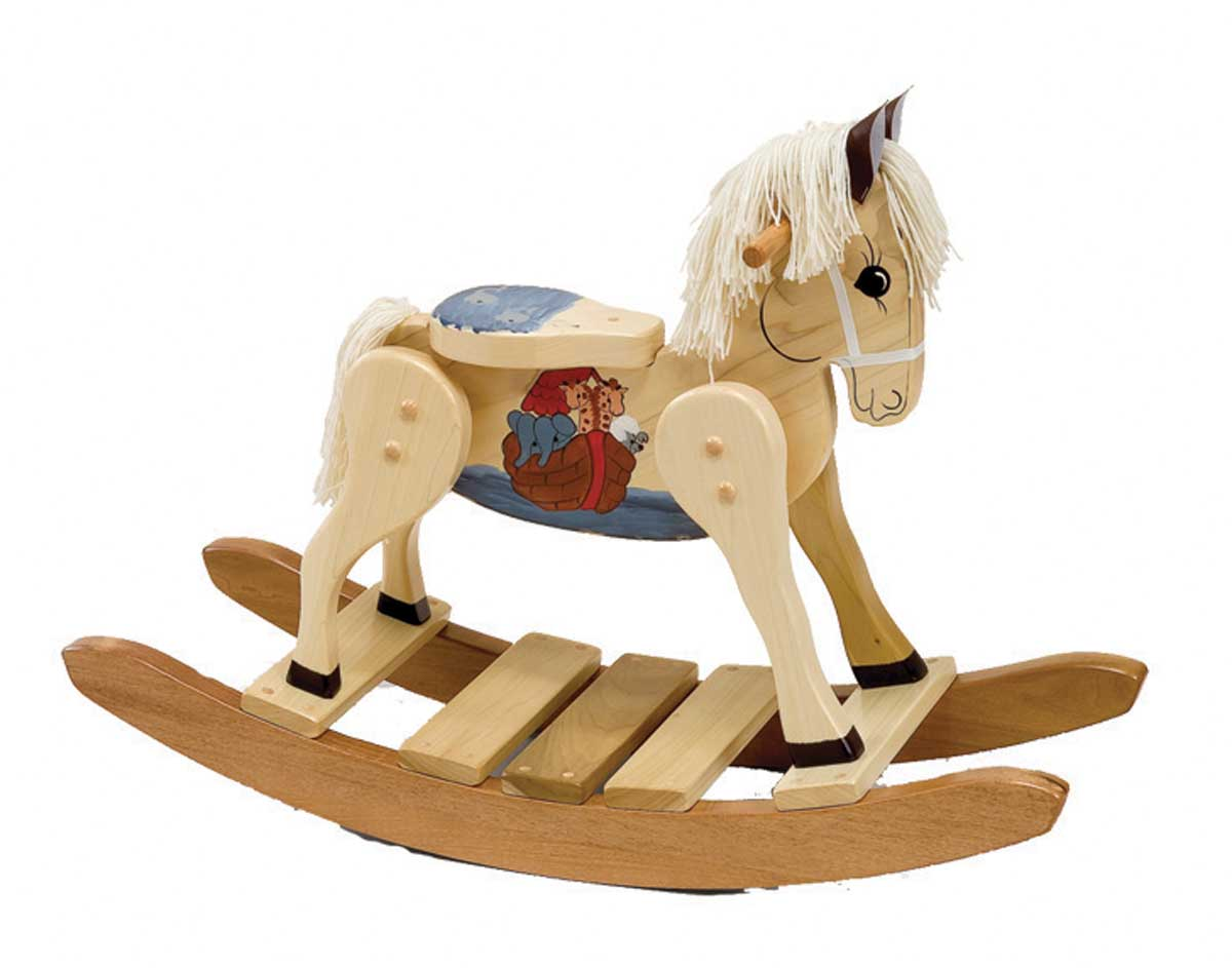 Wooden Noah's Ark Painted Rocking Horse