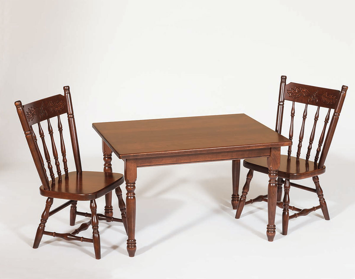 Oak Kids Table Chair Set