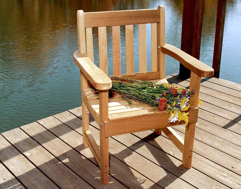 Red Cedar English Garden Patio Chair – Cedar Patio Furniture Plans