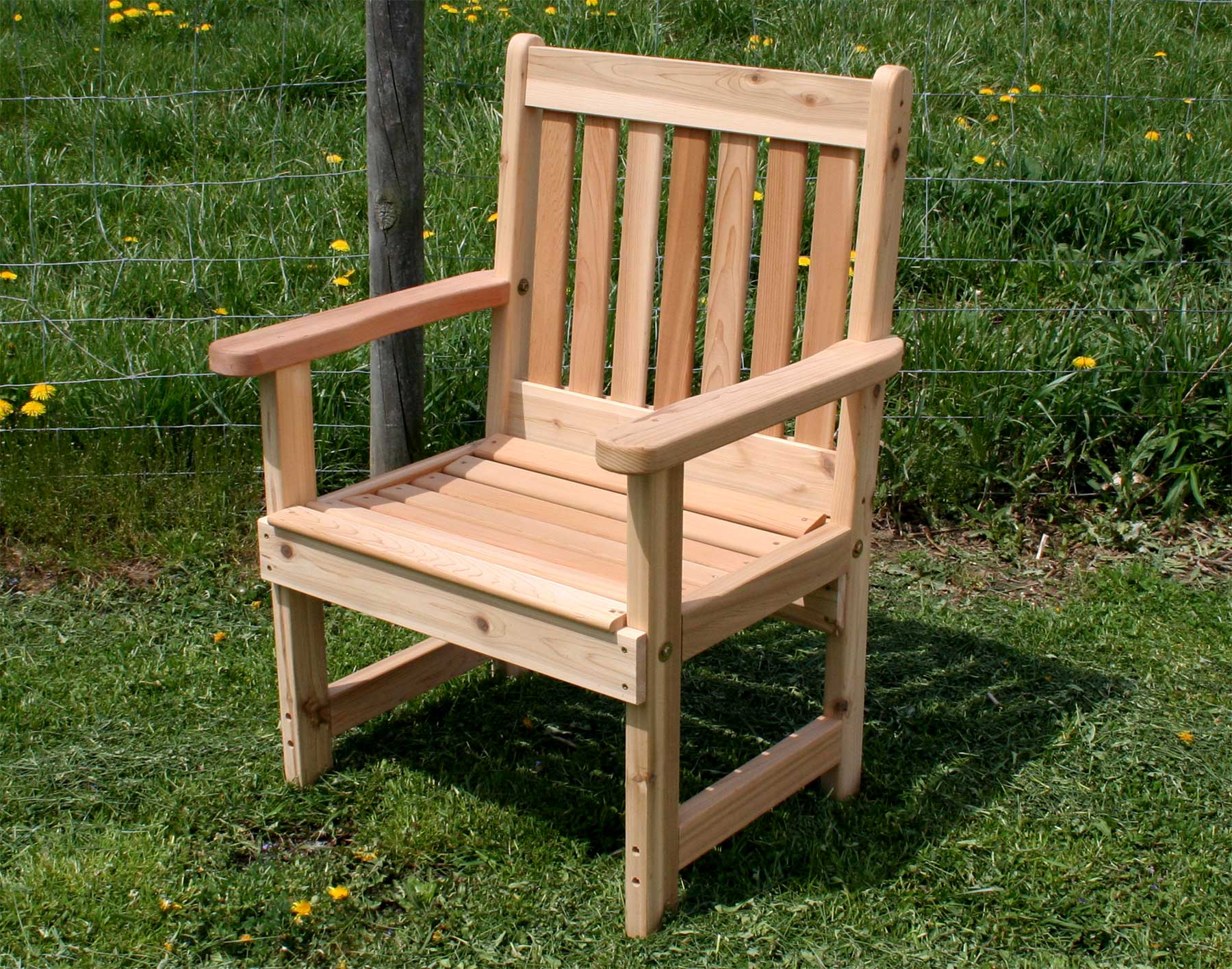 Red cedar english garden patio chair for Outdoor garden furniture