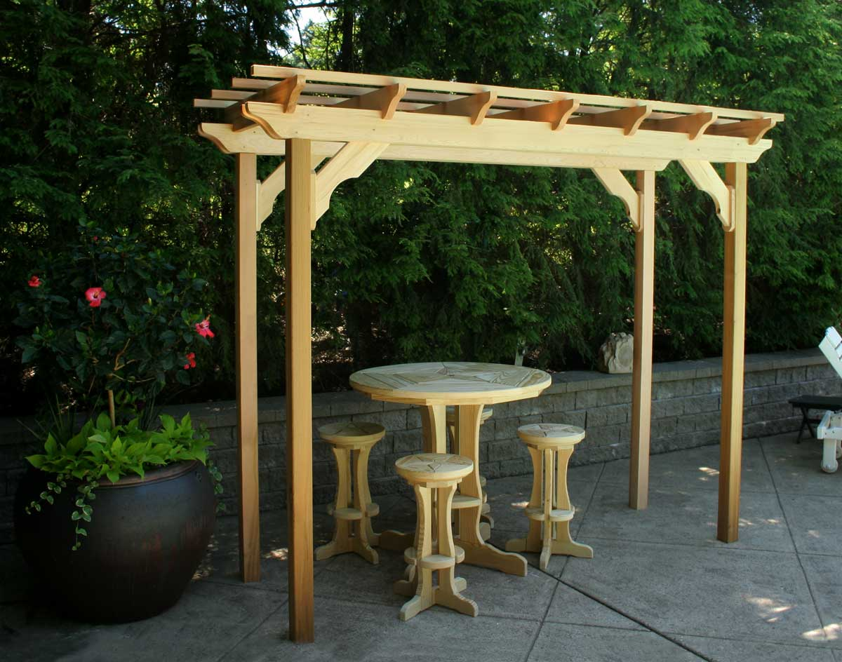 Painted rocking chairs ideas - Courtyard Pergola
