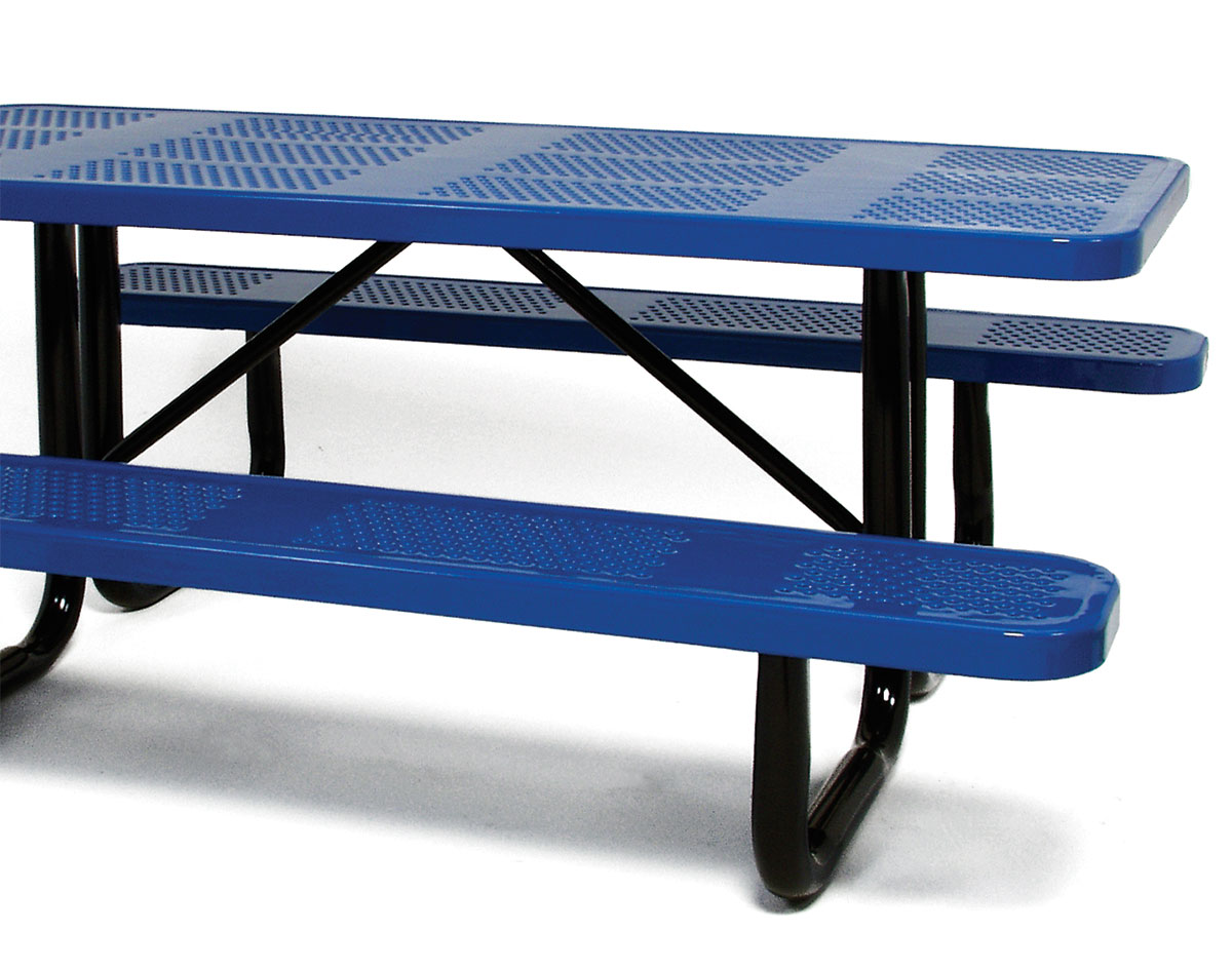 Standard perforated metal picnic table watchthetrailerfo