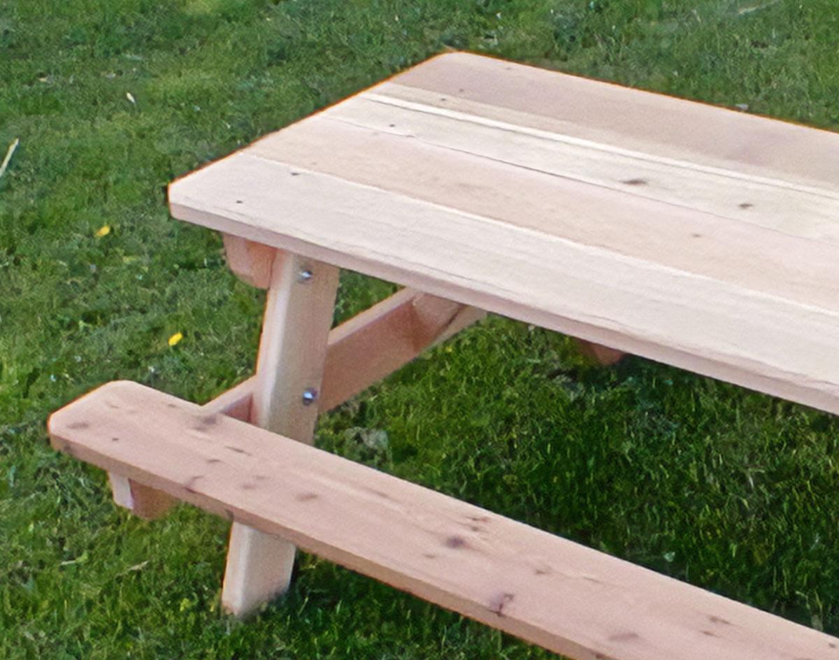 Red Cedar Kid S Picnic Table