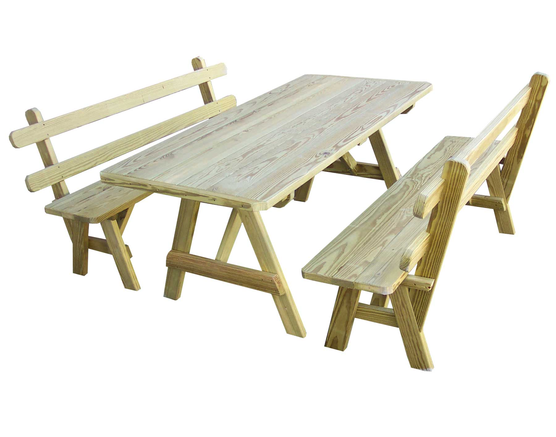 Treated Pine Picnic Table W 2 Backed Benches