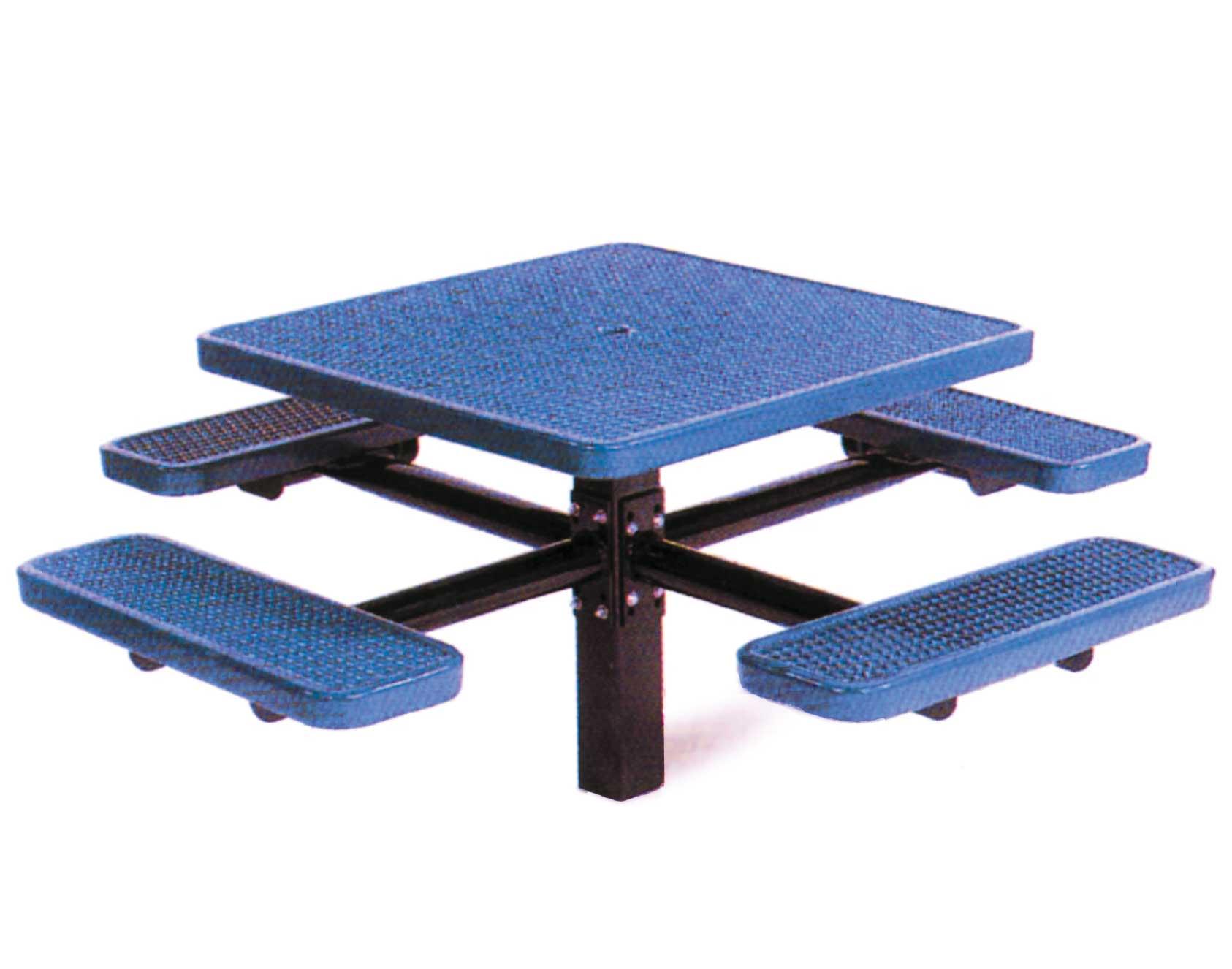 Square metal pedestal picnic table watchthetrailerfo