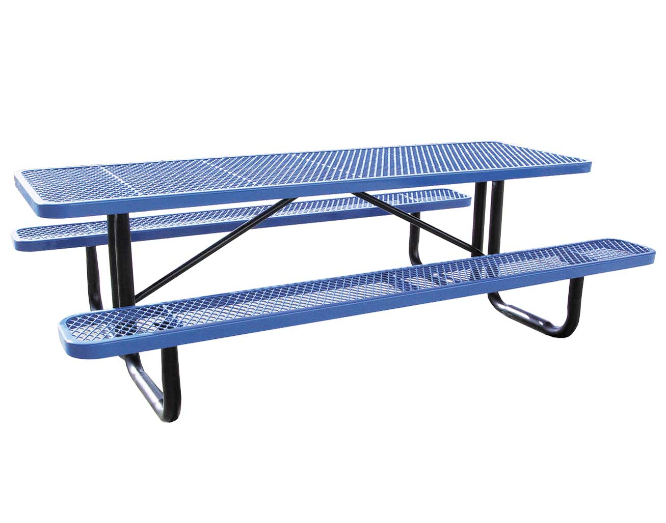 Standard expanded metal picnic table