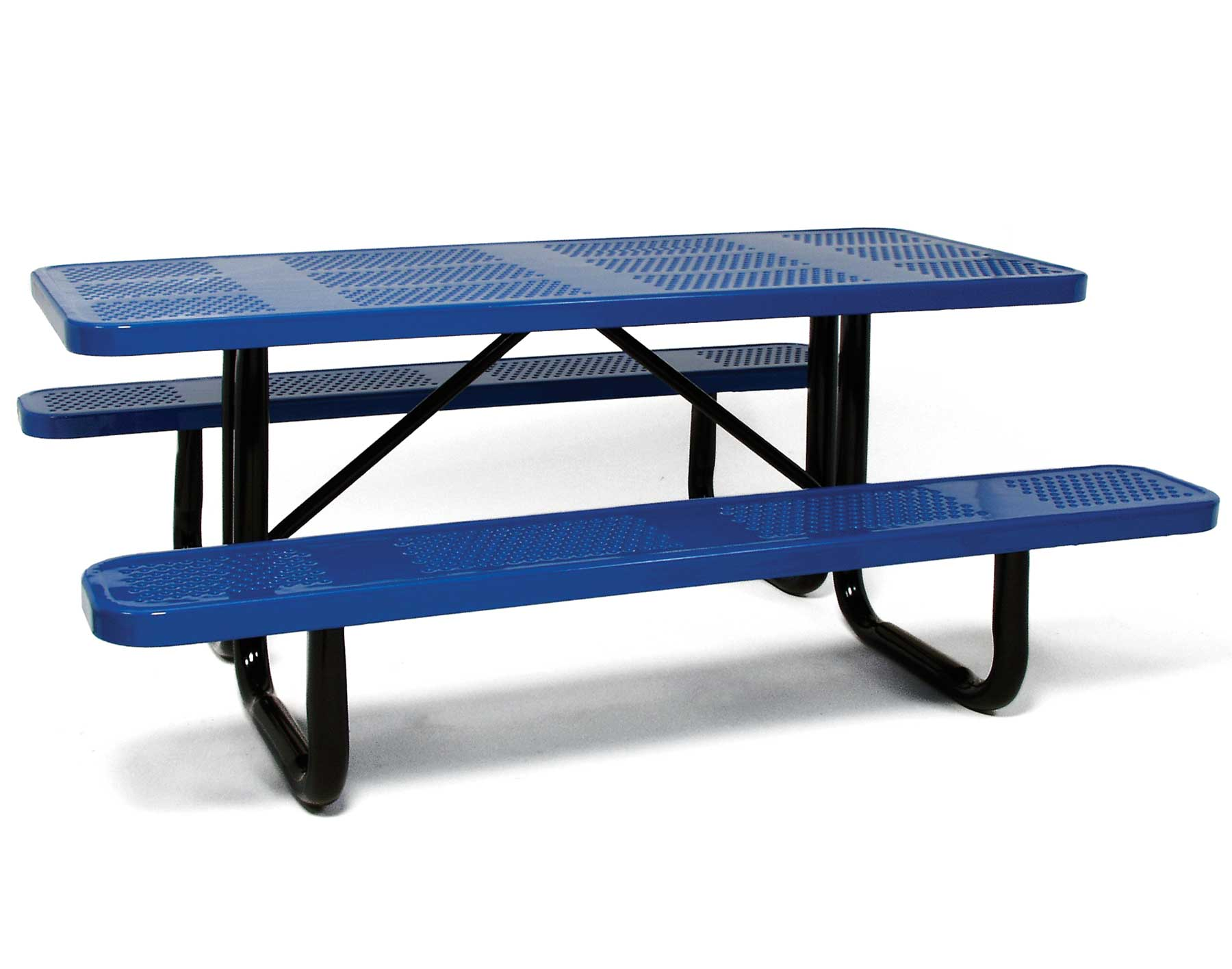 Standard Perforated Metal Picnic Table