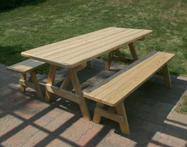 Treated Pine Traditional Picnic Table