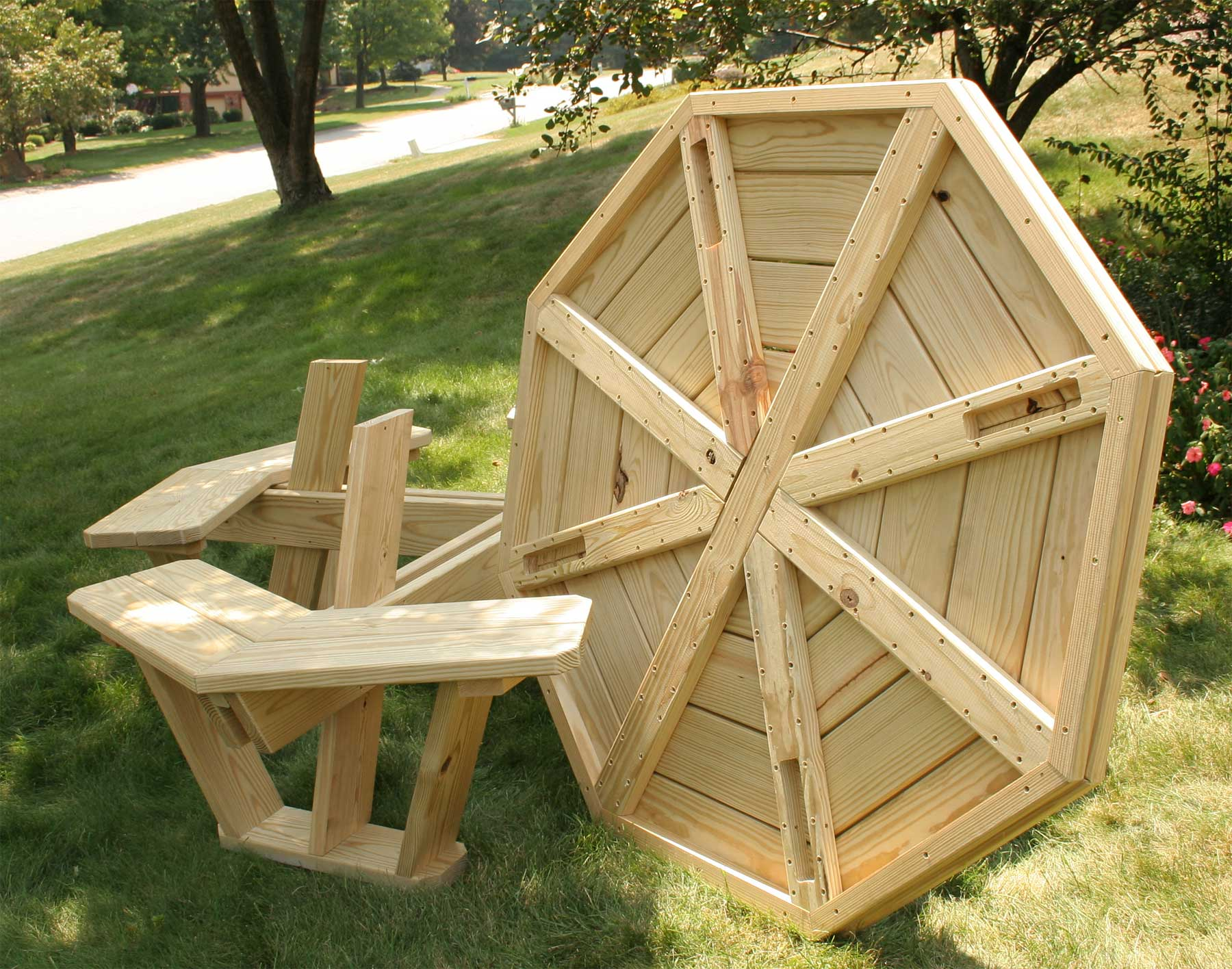 Free Octagon Walk In Picnic Table Plans