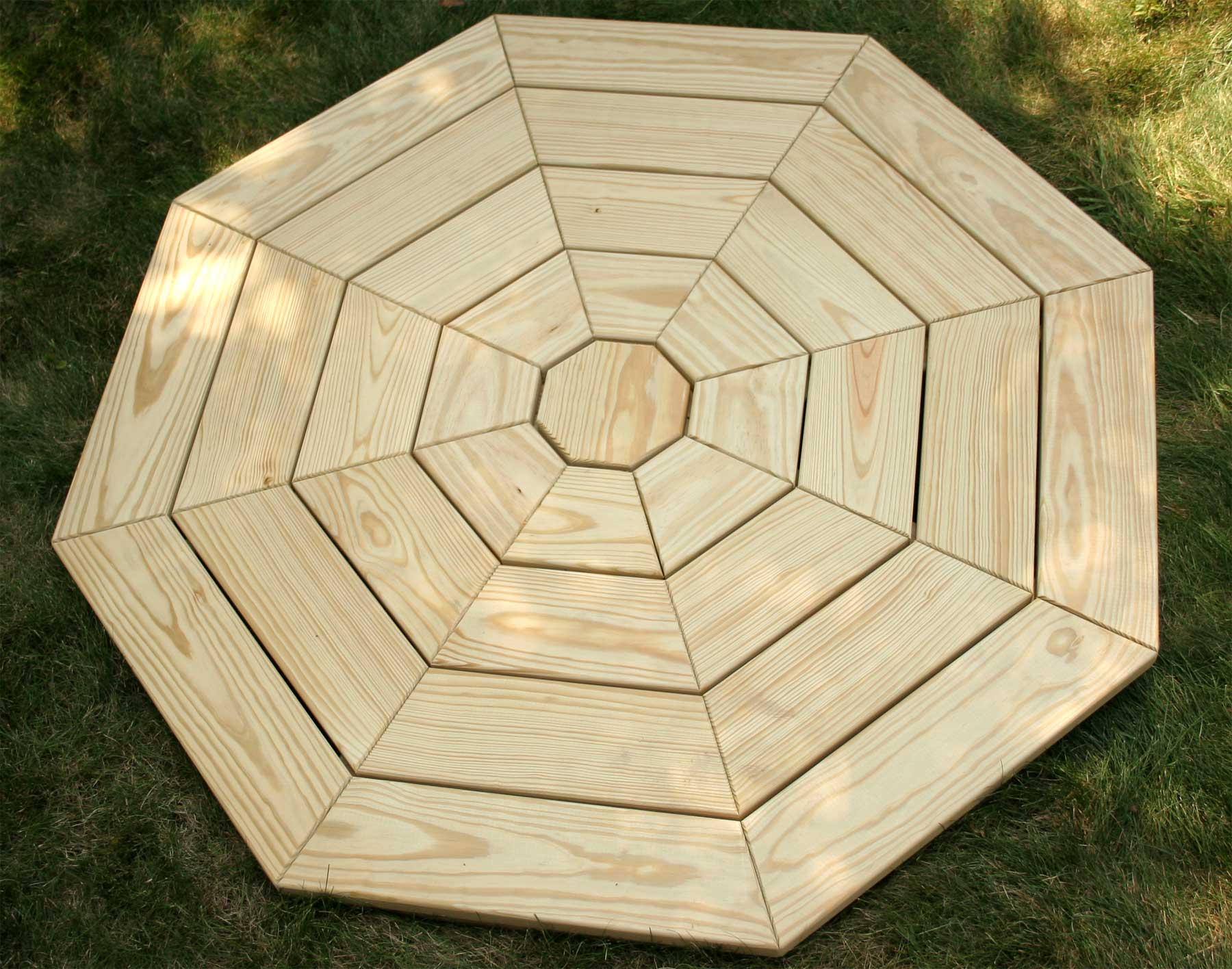 Choice Hexagon picnic table plans with umbrella hole ~ dadi wood