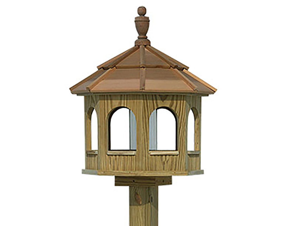 gazebo shop metal hopper lowes garden com at treasures bronze feeder bird pd