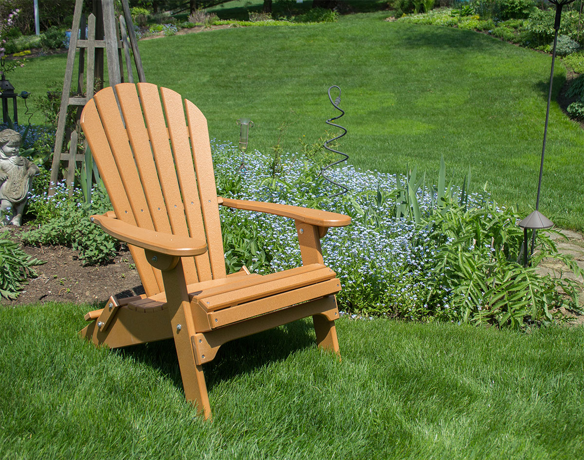 Poly Lumber Folding Adirondack Chair