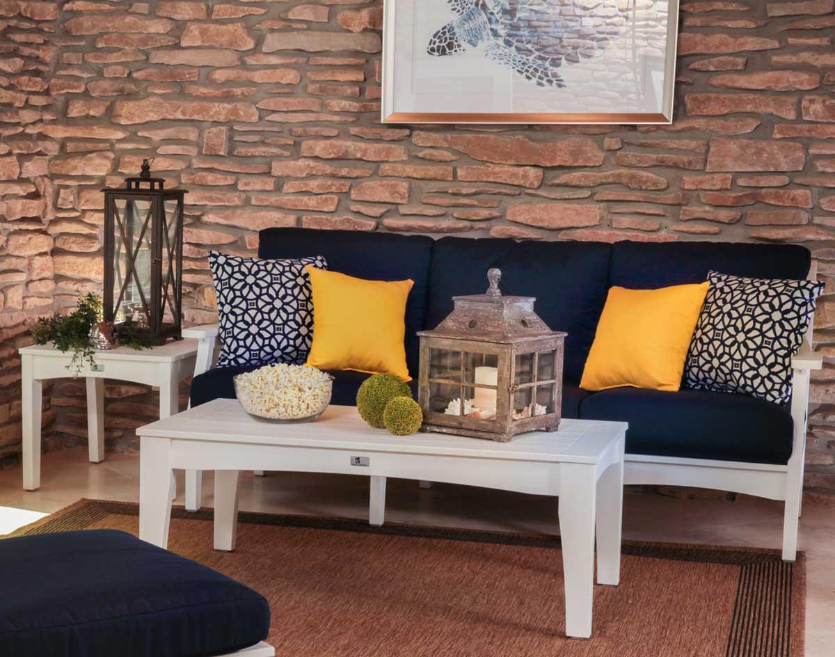 Poly Lumber 3 Piece Classic Terrace Deep Seating Sofa Set