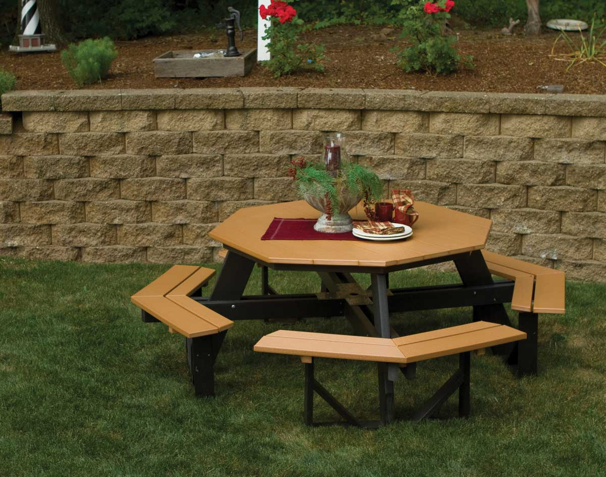 Poly Lumber Octagon WalkIn Picnic Table - Walk in picnic table