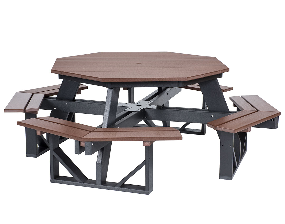 Poly Lumber Octagon Walk In Picnic Table