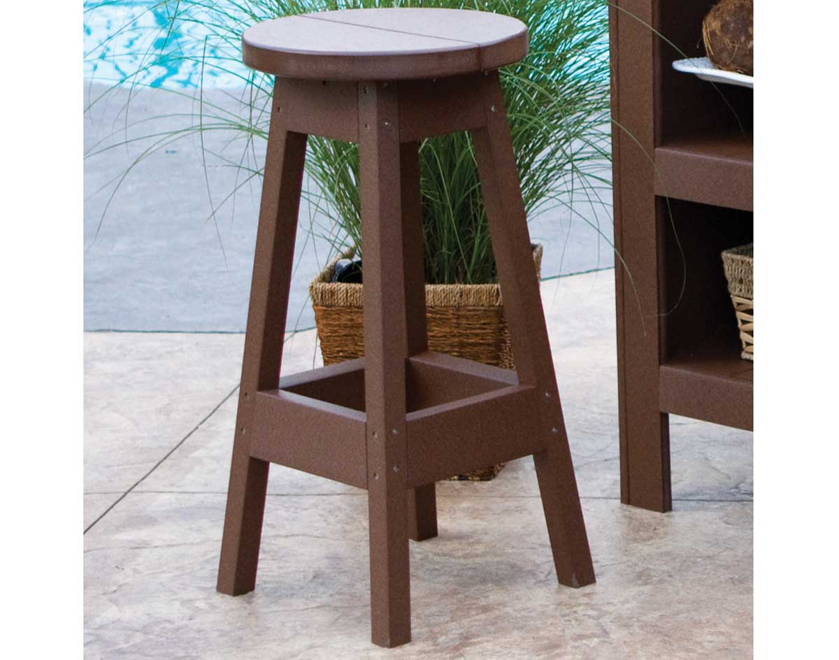 Image of: Poly Lumber Outdoor Bar Stool