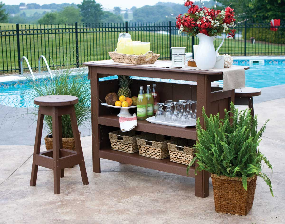 Amazing photo of Poly Lumber Outdoor Bar Stool with #367F95 color and 1200x944 pixels