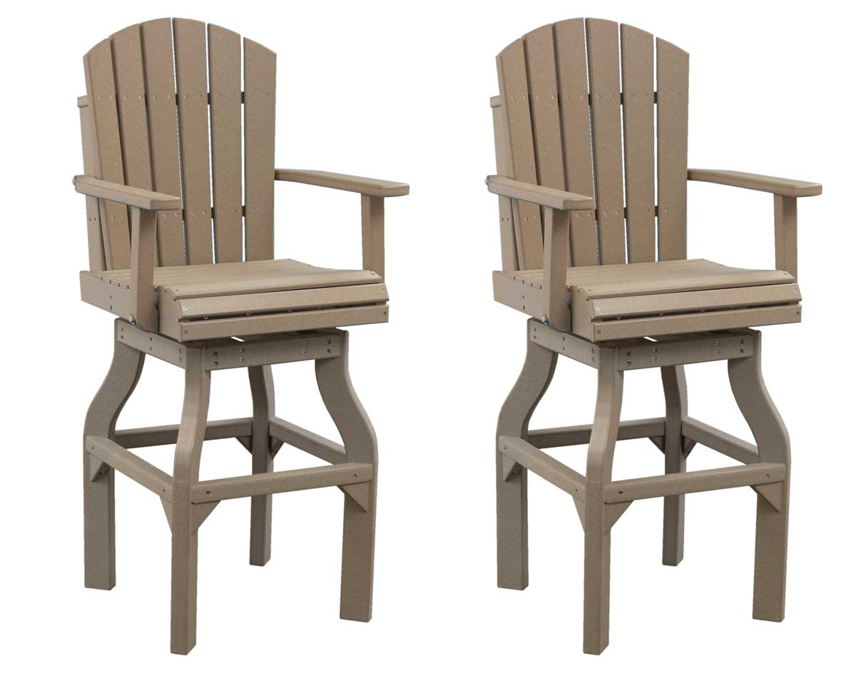 PolyWood Adirondack Swivel Bar Chair Ag