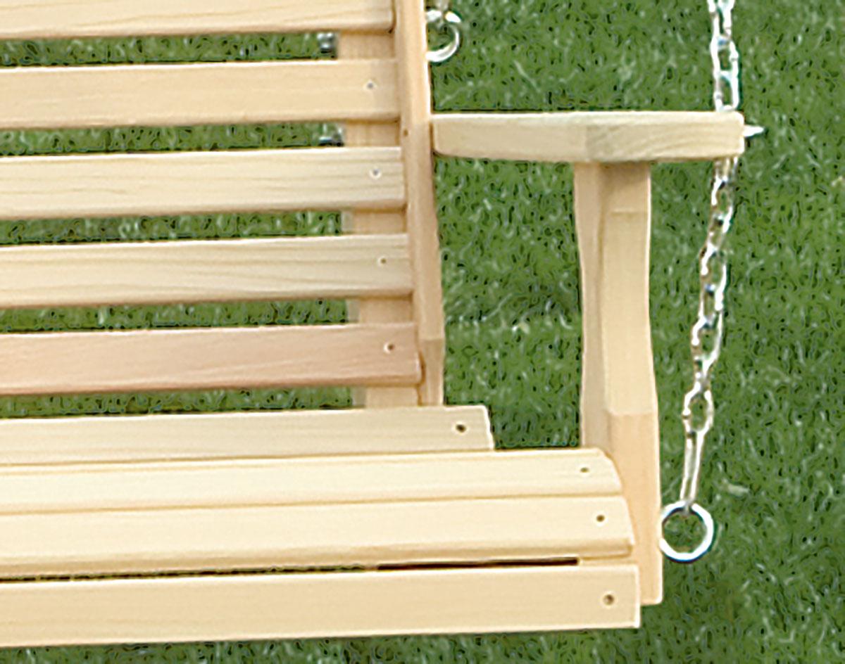 Cypress Crossback Porch Swing