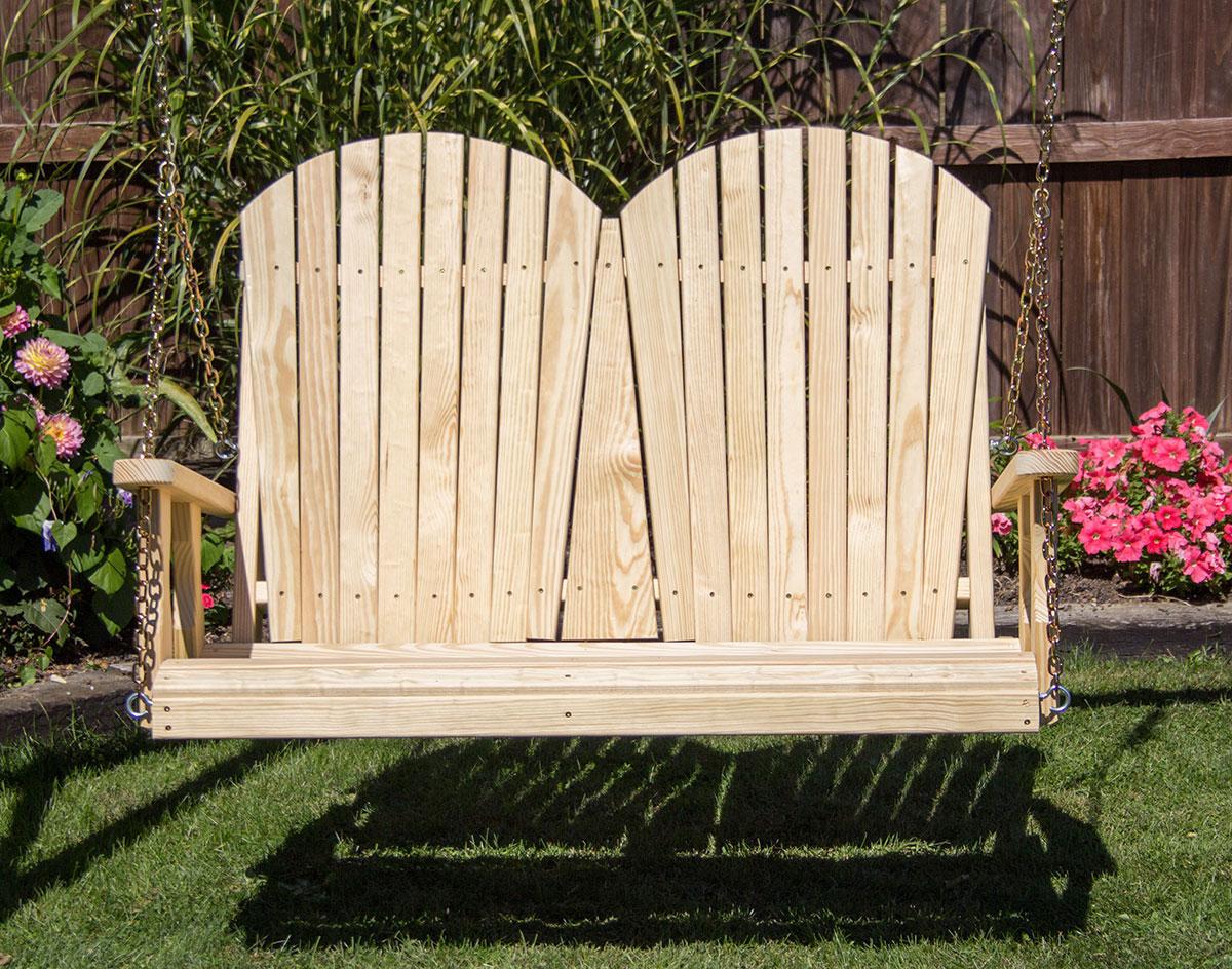 Treated Pine Curveback Porch Swing