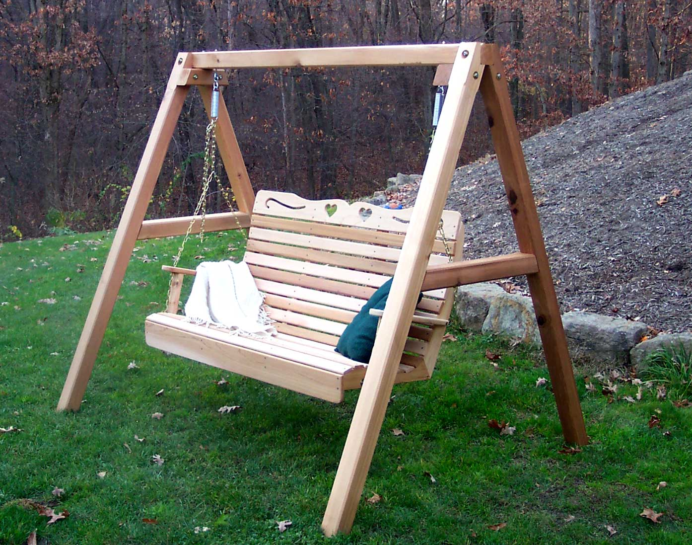 Red cedar swing stand for Building a swing stand