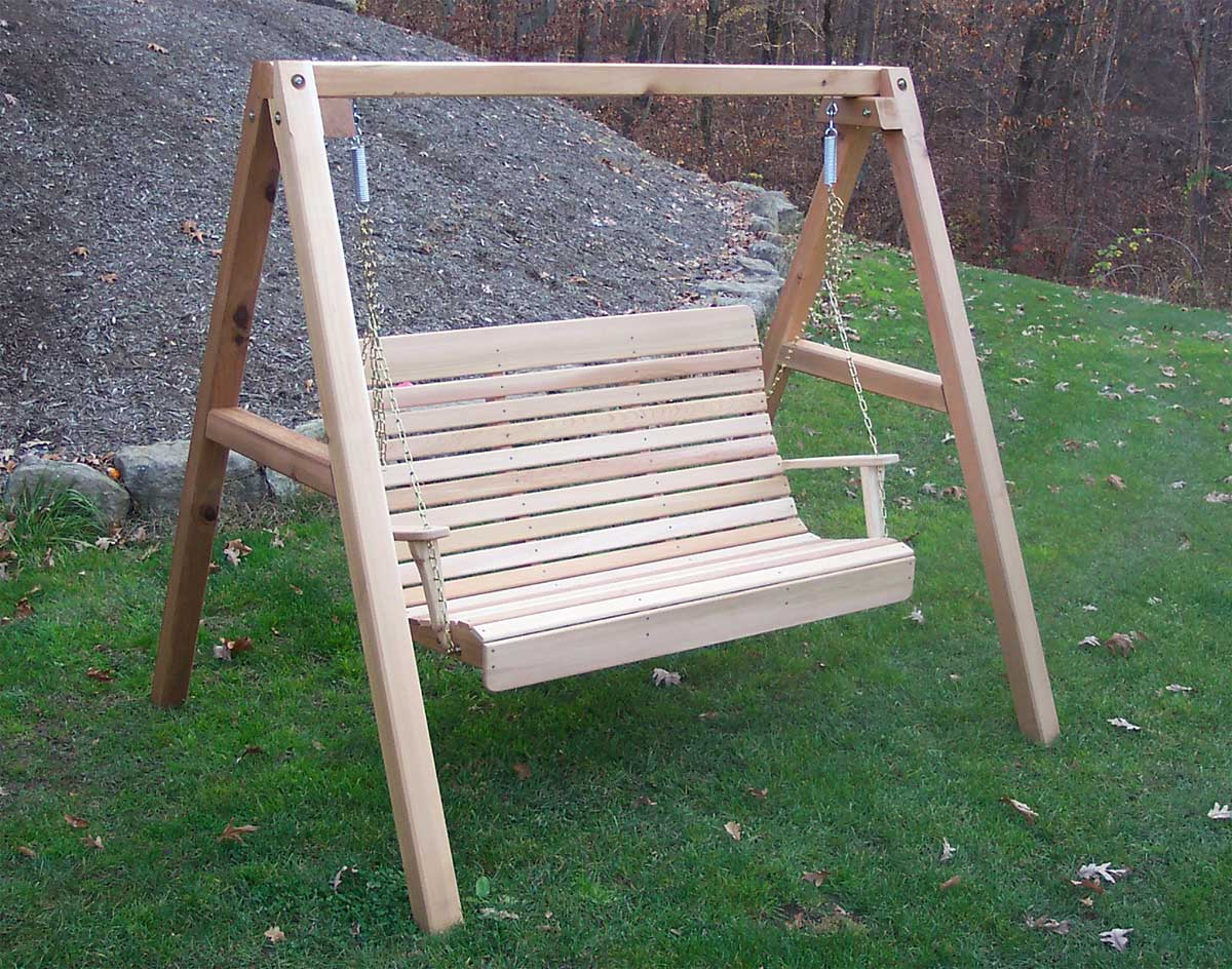 Red Cedar Royal Highback Porch Swing w/Stand
