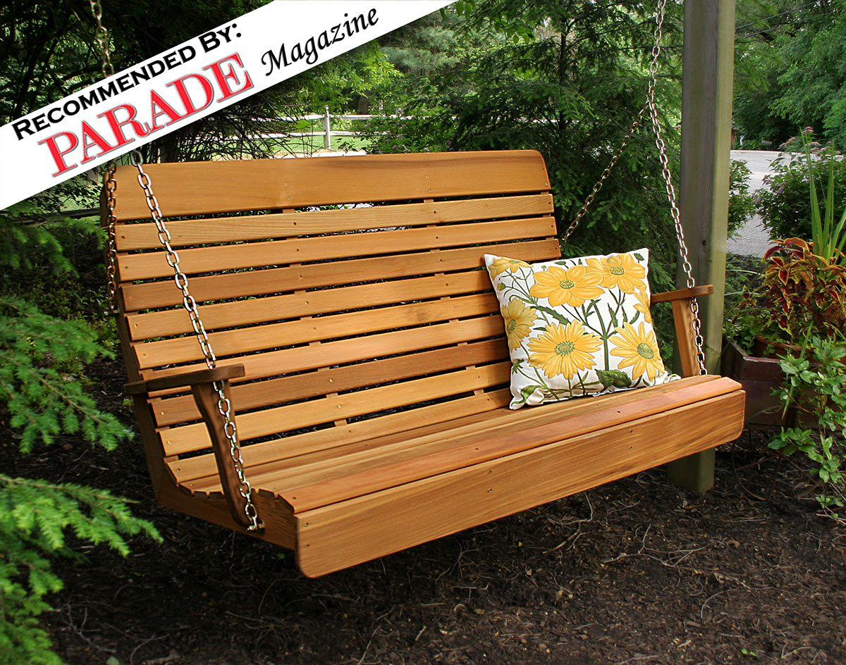 brown pl swing com red treasures porch shop lowes patio gliders at furniture swings garden outdoors
