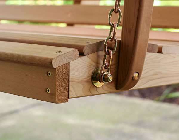 Red Cedar English Garden Porch Swing