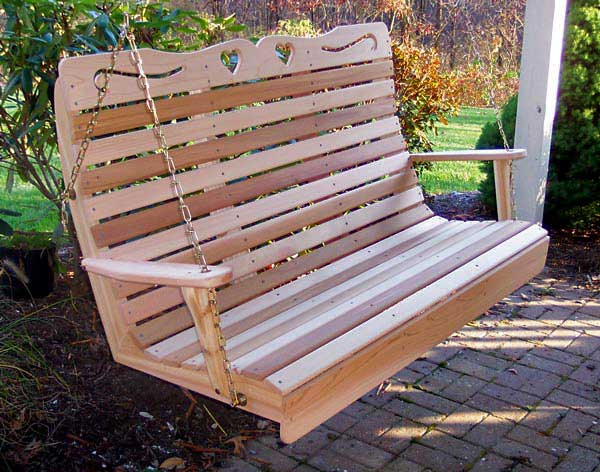 Red Cedar Royal Sweetheart Highback Porch Swing