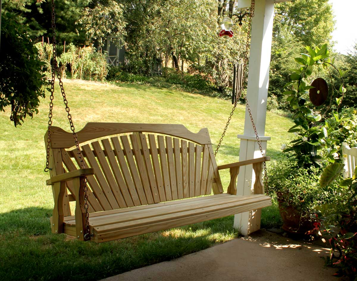 Treated Pine Fanback Porch Swing