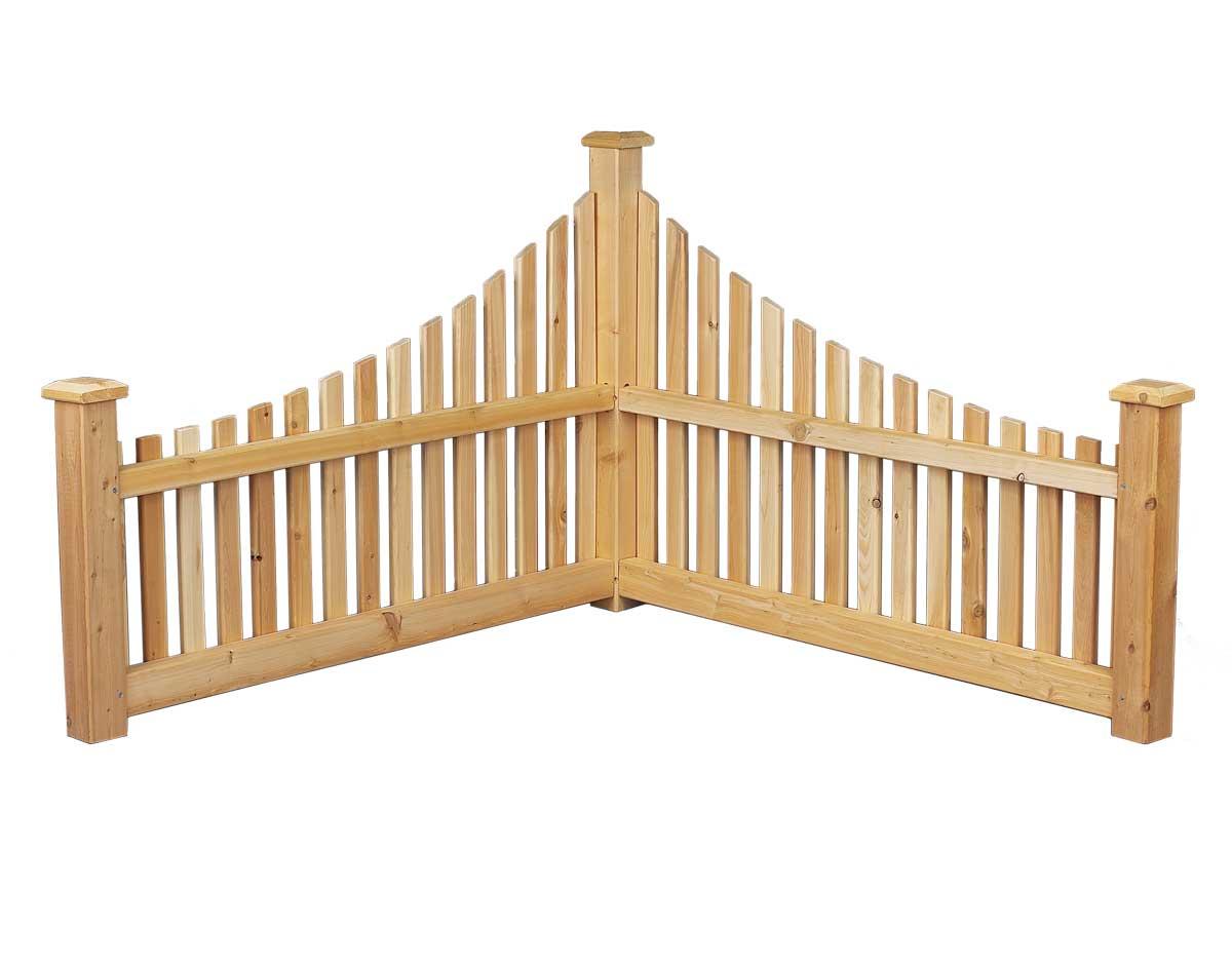 Red Cedar Corner Fence