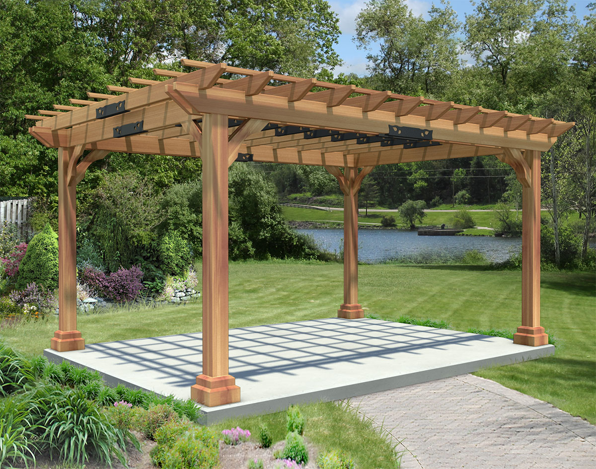 red cedar pergola outdoor goods. Black Bedroom Furniture Sets. Home Design Ideas