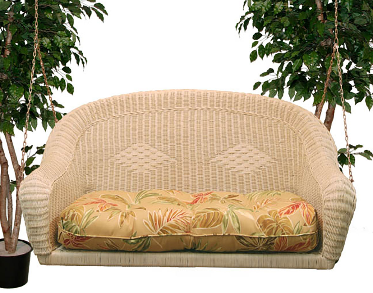 Wicker Sands Porch Swing W/ Cushion