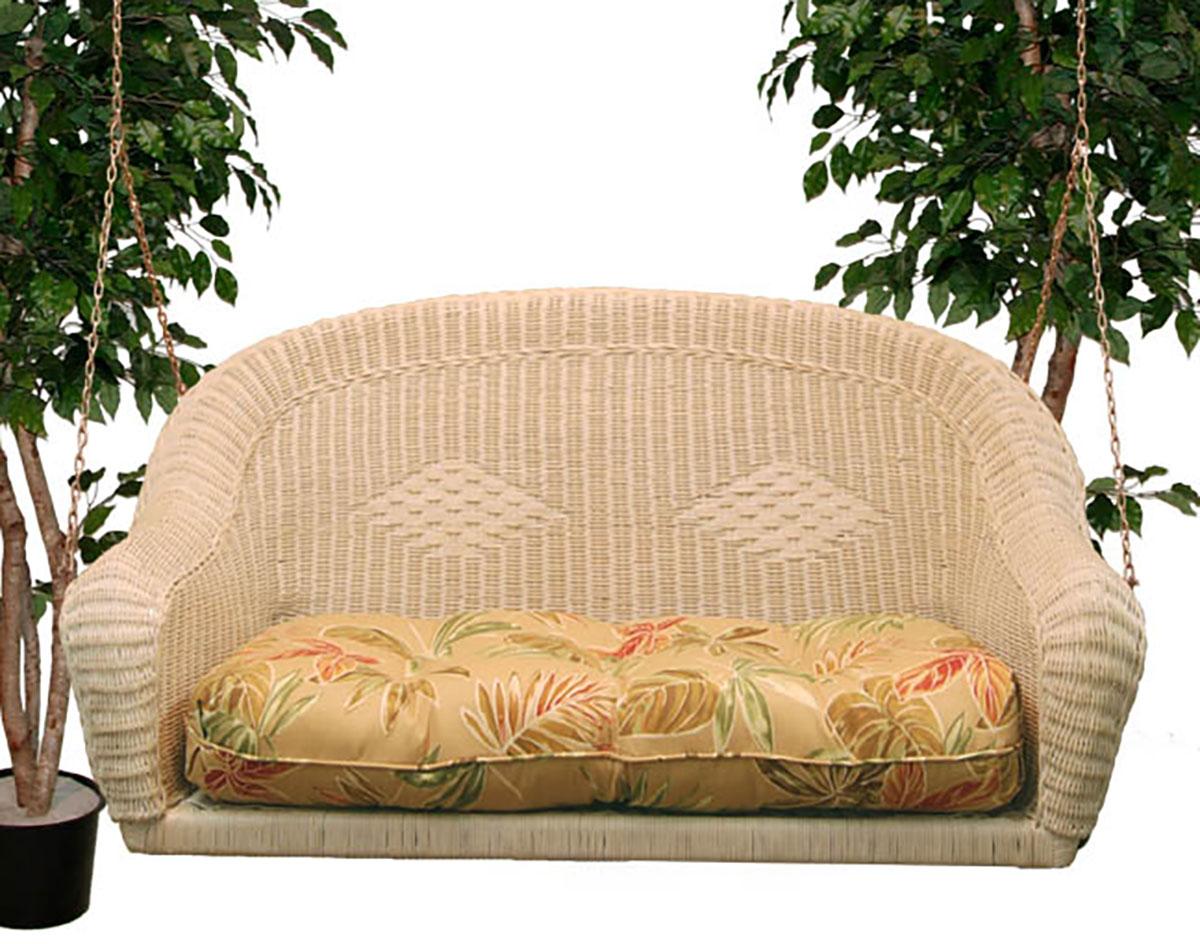 Wicker Sands Porch Swing W Cushion