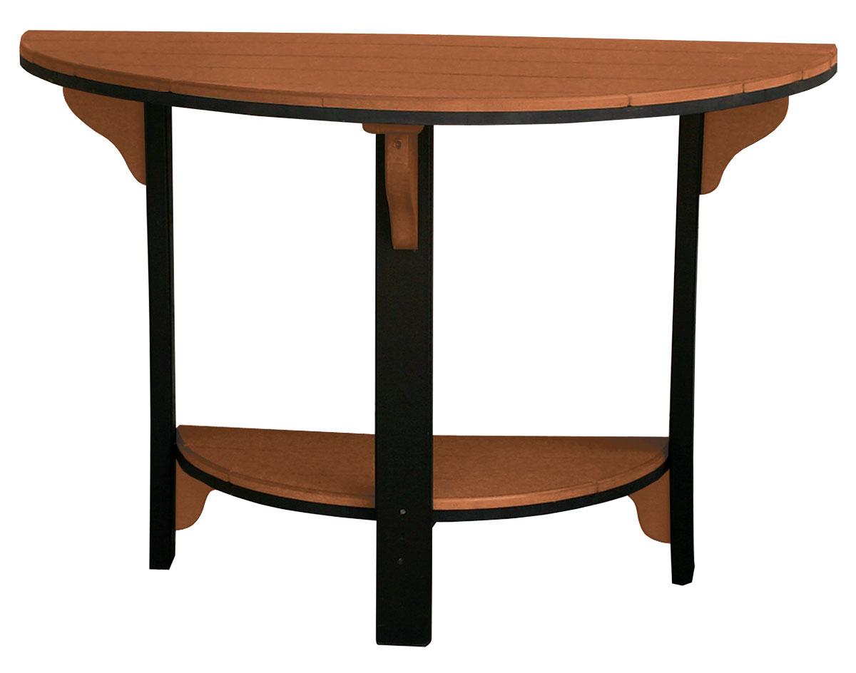 poly lumber half round table w 2 balcony chairs half round e