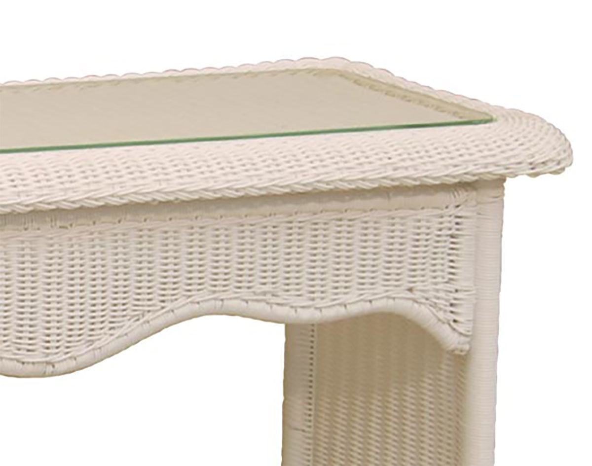 Wicker sands console table geotapseo Images