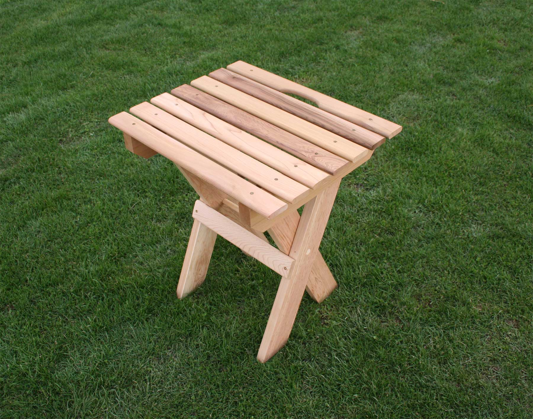 Red Cedar Folding Travel Table