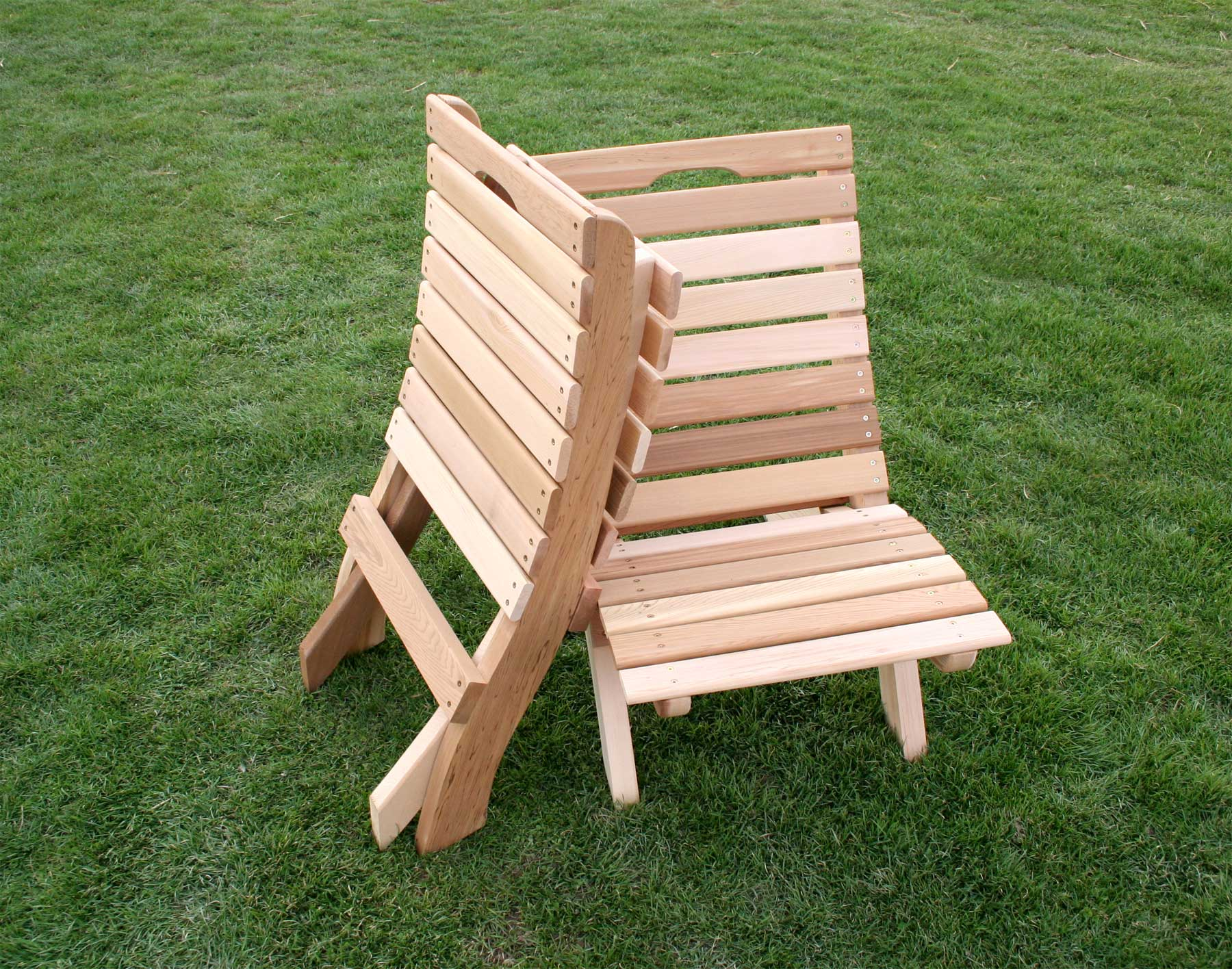 Genial Red Cedar Folding Chairs Shown Unstained
