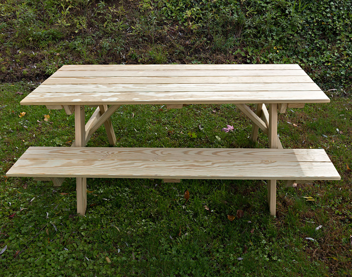 66 Treated Pine Clic Picnic Table