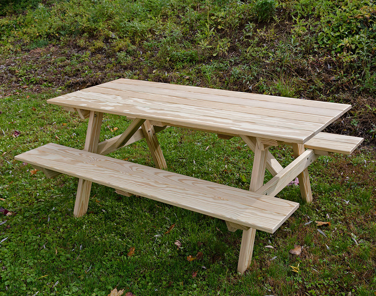 Treated Pine Classic Picnic Table - Ready to assemble picnic table
