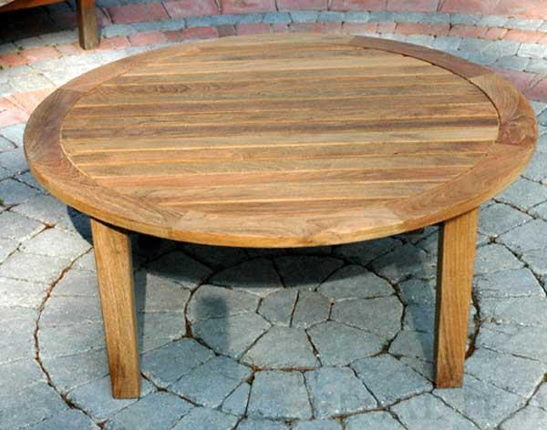 Teak Round Coffee Table, Round Teak Coffee Table