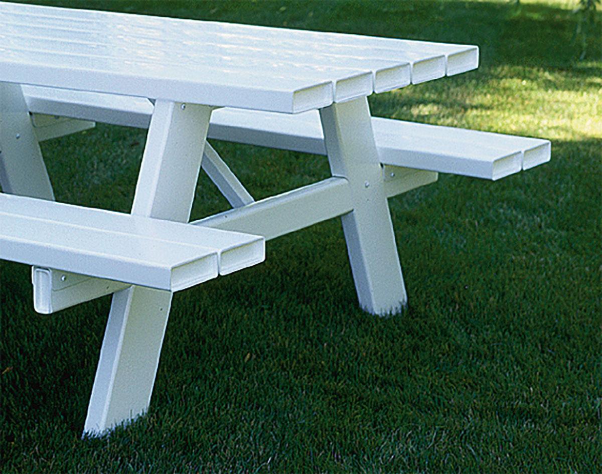 Vinyl Picnic Table - White vinyl picnic table