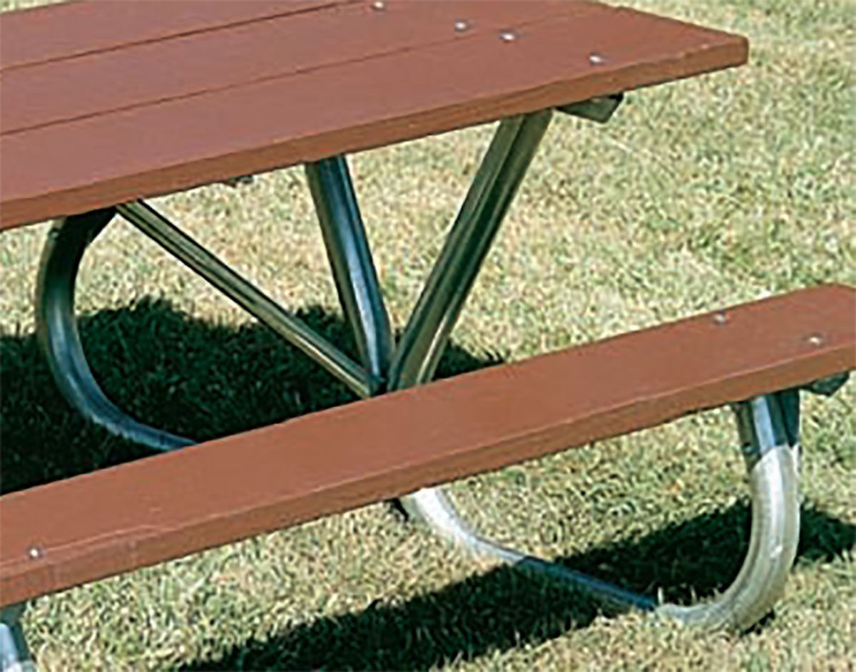 Extra HeavyDuty BoltThru Picnic Table - 6 sided picnic table
