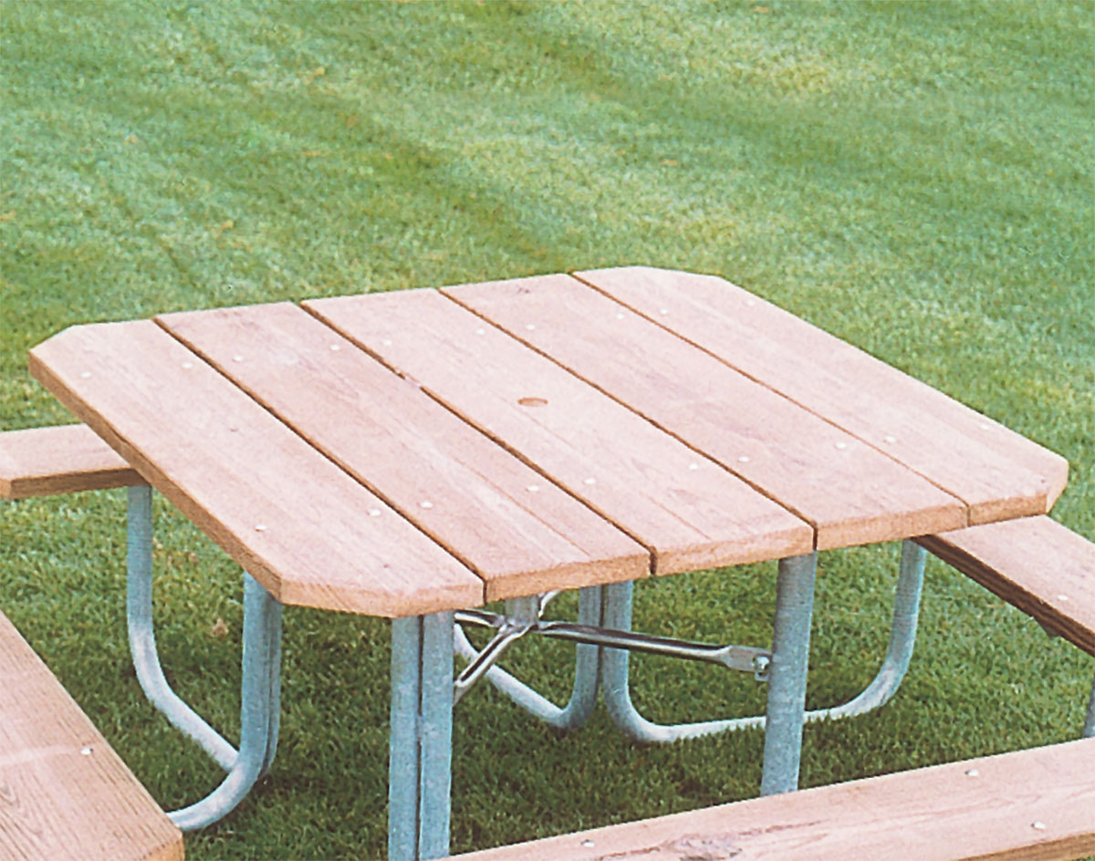 Four sided picnic table