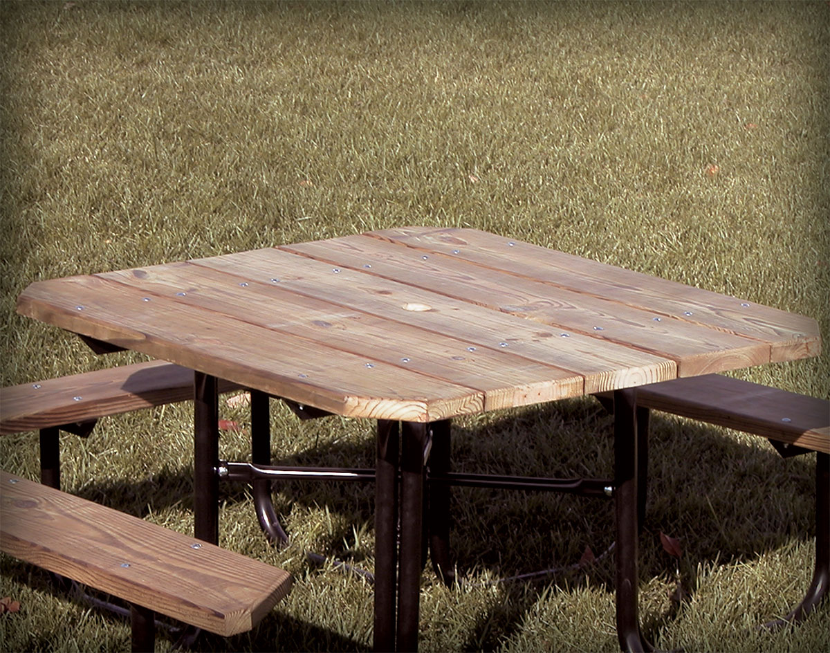 FourSided Seat Accessible Picnic Table - Four sided picnic table