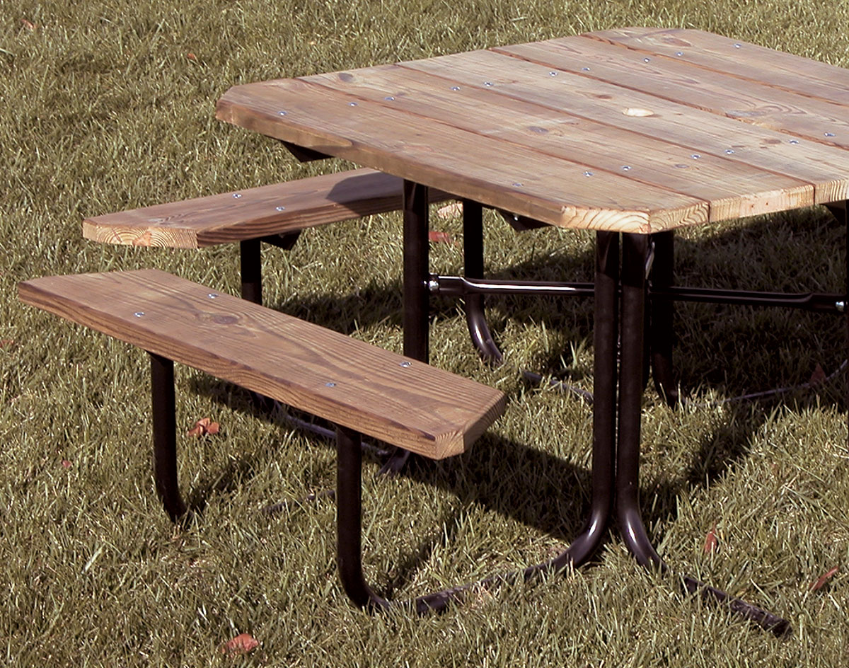 Four sided 3 seat accessible picnic table watchthetrailerfo