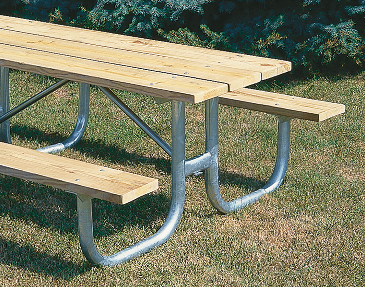 extra heavy-duty welded frame picnic table
