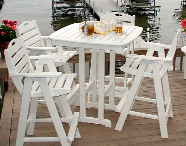 37 Quot Polywood Square Nautical Bar Table